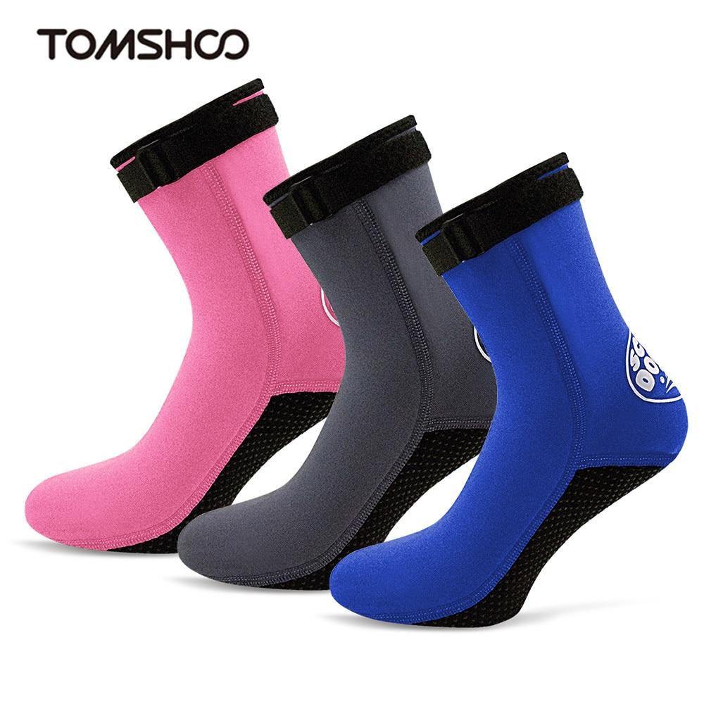 Men Women Beach Boots Non Slip Adjustable Portable Neoprene Lace Up Diving Socks