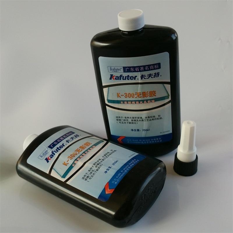 2pcs NEW kafuter 250ml k 300 UV glue uv curing adhesive Crystal bonding glue free shipping
