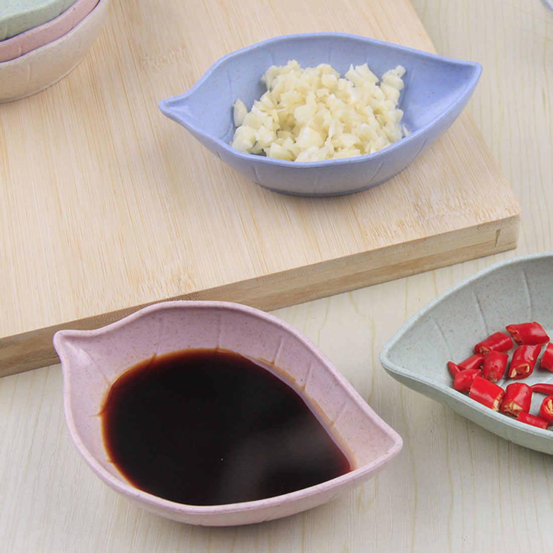 1 шт., форма листьев, Детская тарелка, миска, пшеничная солома, тарелка для соевого соуса, миска для риса, тарелка, подтарелка, японская посуда, контейнер для еды