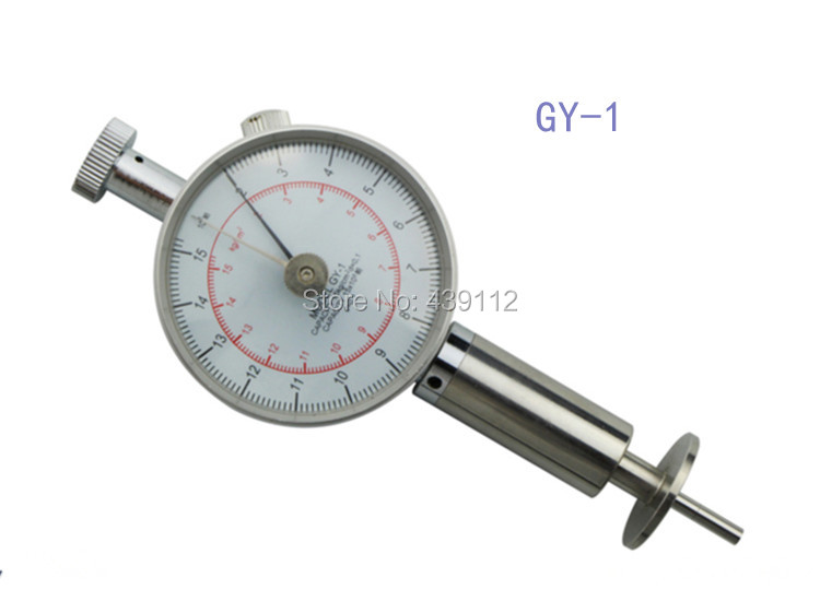 Free shipping GY-1 Fruit Hardness Tester Fruit hardness meter Range:2-5kg/ cm2Wholesale and retail цена