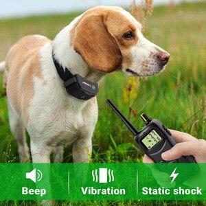 Image 4 - Petrainer 900B 1 vendita calda elettrico a distanza di controllo pet sistema del collare di addestramento del cane con display lcd 1000M