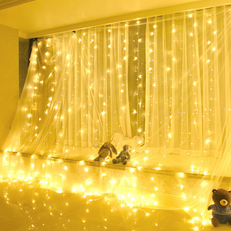 3x3 Meter UL 588 Curtain Light 300LED Ice Bar Curtain Light IP44 Waterproof Christmas Light For Indoor Outdoor Home Luces Decor skeleton printed waterproof bath curtain