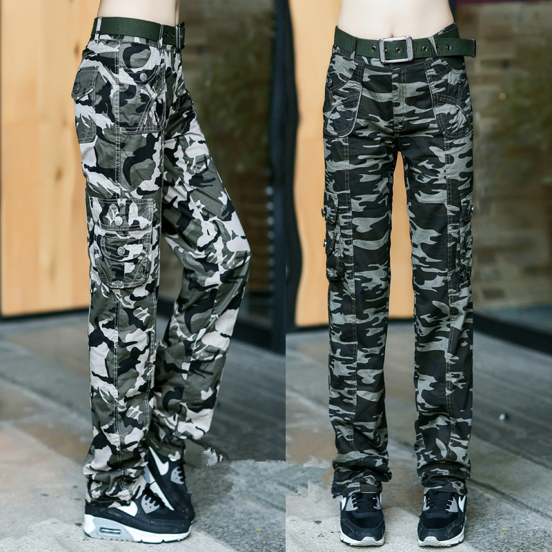 Women Military Camouflage trouser Cotton Cargo   Pants   Casual   Capris   Slim Fit Ladies Army Camouflage Jogger   Pants   For Female
