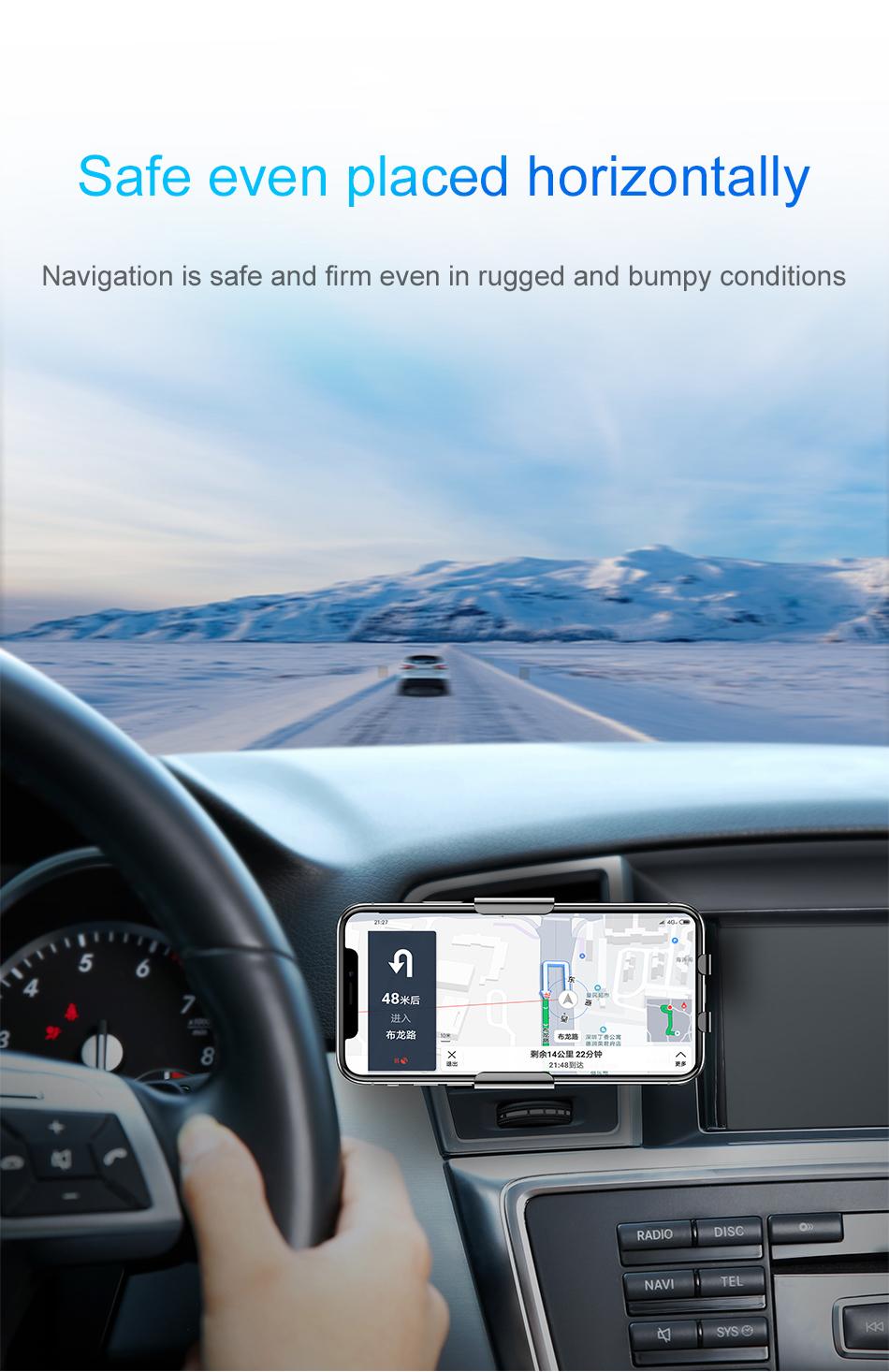 HTB1ZjSBXiHrK1Rjy0Flq6AsaFXa7 - Baseus Qi Car Wireless Charger For iPhone Xs Max XR X Samsung Intelligent Infrared Sensor Fast Wirless Charging Car Phone Holder