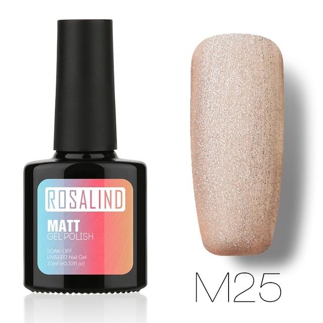 ROSALIND Matte Nail Varnish  10ml M01-29 Gel Nail Polish Nail Art Nail Gel Polish Frosted Surface UV LED Soak-Off
