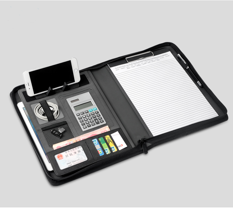 Multifuctional A4 Manager Document Bag Bags Folder For Documents With Zipper Foldable Stand Rack For Ipad/cellphone/tablet 1267B