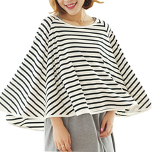 Multi-Use Nursing covers breathable breastfeeding cover for baby striped breast feeding apron scarf toddler seat cover Shawl new