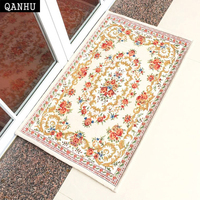 QANHU Classic Carpets Embroidered Environmental Floor Mats Chenille Fabric Bathroom Anti Slip Carpet 5 Colors 6