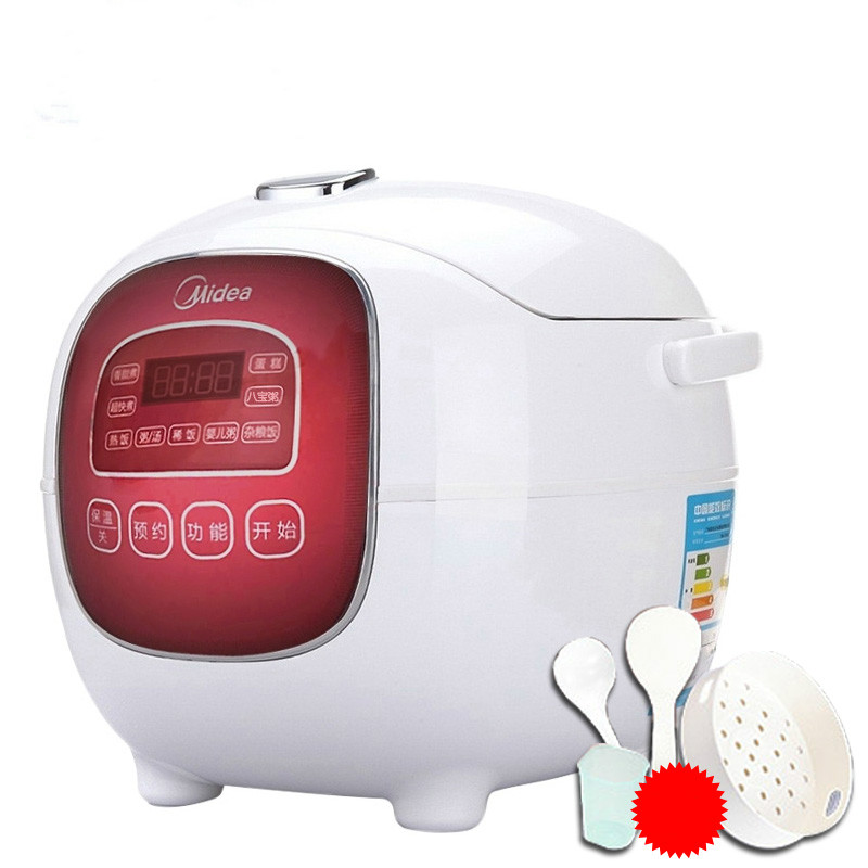 M Apple Mini Electric Rice Cooker 220V 1.6L for 1-2People Intelligent Reservation Rice Machine Baby Food Cake Porridge Maker цена
