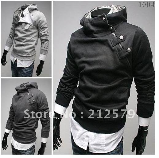 Men's jacket Casual fashion man jacket Men Slim Sexy Hoody Jacket ...