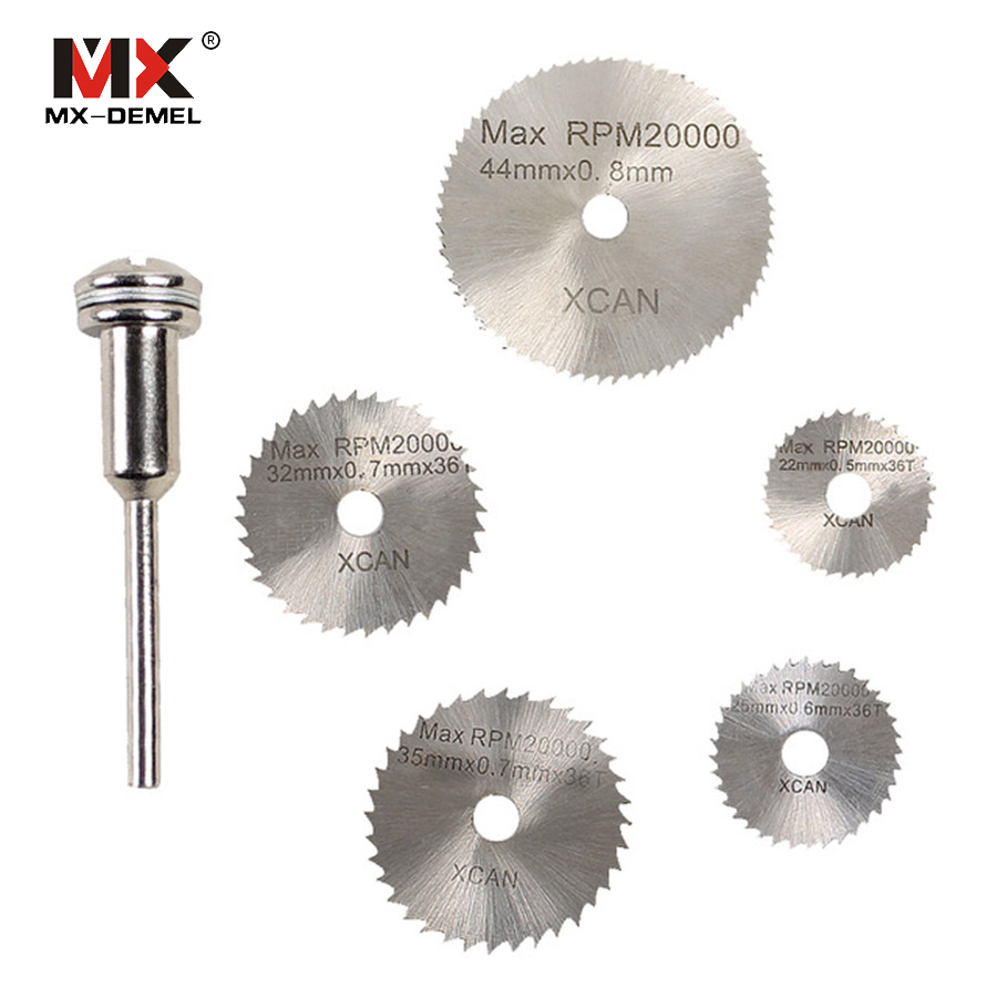 5 PIECE STEEL CUTTING DISC SET  4 CUTTERS 1 MANDREL DREMEL ACCESSORIES ROTARY