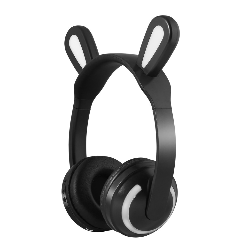 Rabbit Bluetooth Ear Headphones 1-Color LED Flashing Glowing Wireless Bluetooth Headphone For Cosplay Kids Gaming