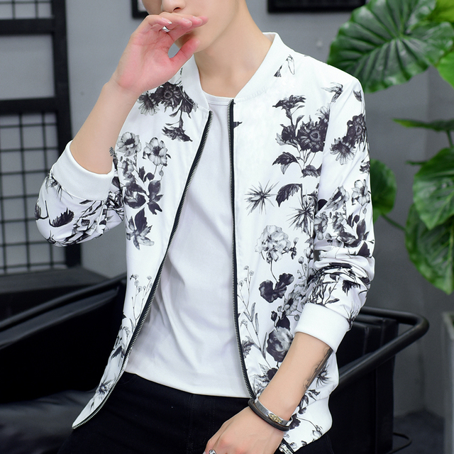 Chinese Style Bomber Jacket Autumn Brand New Plus Size Print Jackets Men Long Sleeve Slim Fit Casual Windbreaker Coat Men 6XL-M
