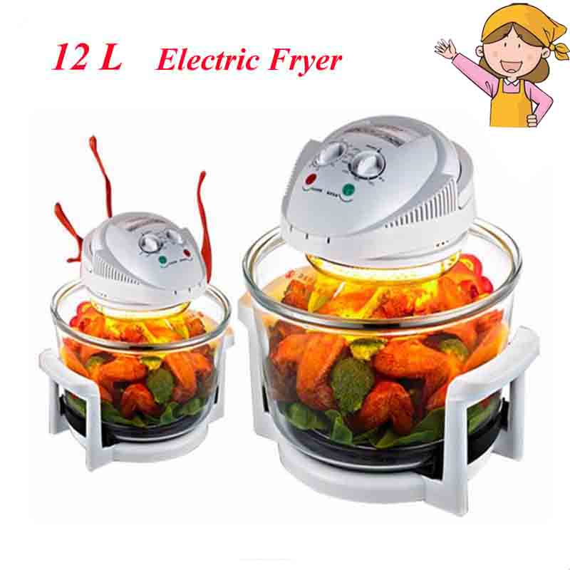 1300W Halogen Oven 12L Turbo Oven 220V Conventional Infrared Super Wave Oven Electric Fryer LO-G6 salter air fryer home high capacity multifunction no smoke chicken wings fries machine intelligent electric fryer