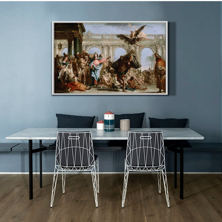 Christian Jesus Oil Painting Canvas Wall Art Picture For Living Room Home Decor Retro Figure Paintings In Calligraphy From Garden On