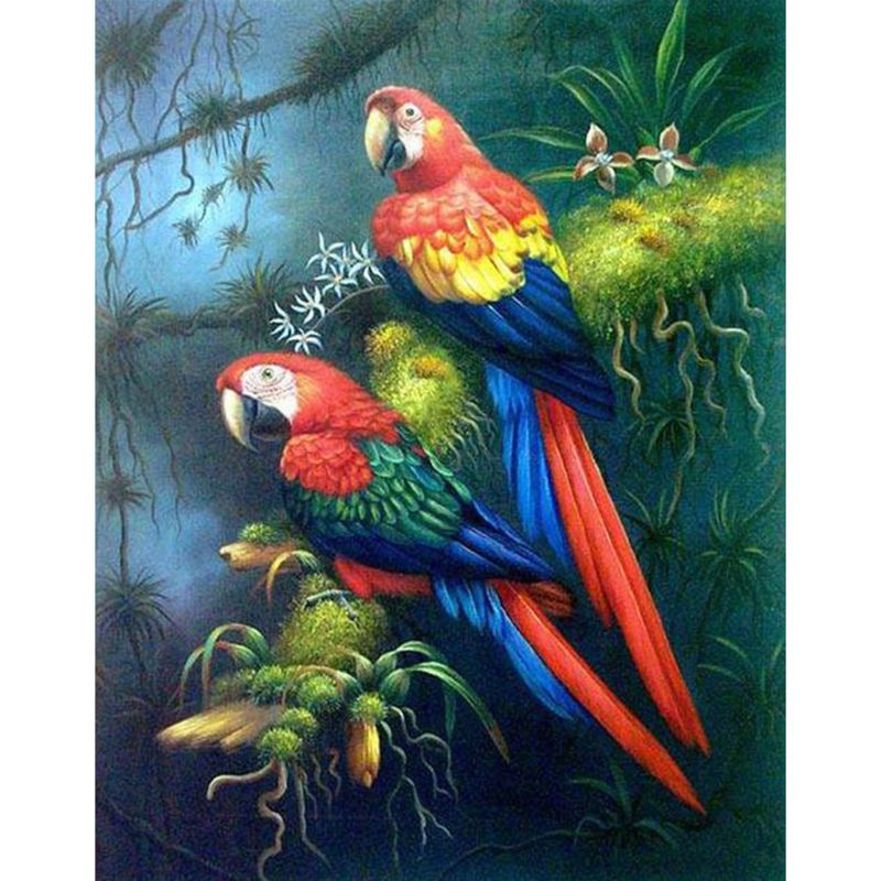 5D Full Diamond Painting DIY Bird Stand Embroidery Cross ...