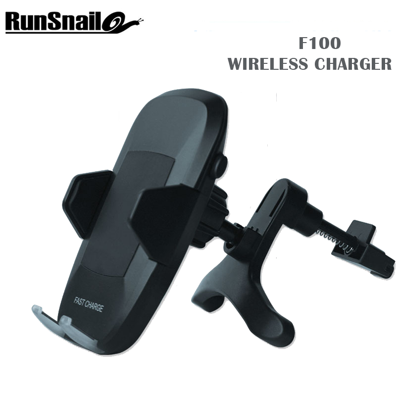 Runsnail Qi Sans Fil F100 Téléphone Titulaire avec Type C Câble Port Support voiture Air Vent Stand Rapide Chargeur De Voiture Sans Fil pour iOS Andriod