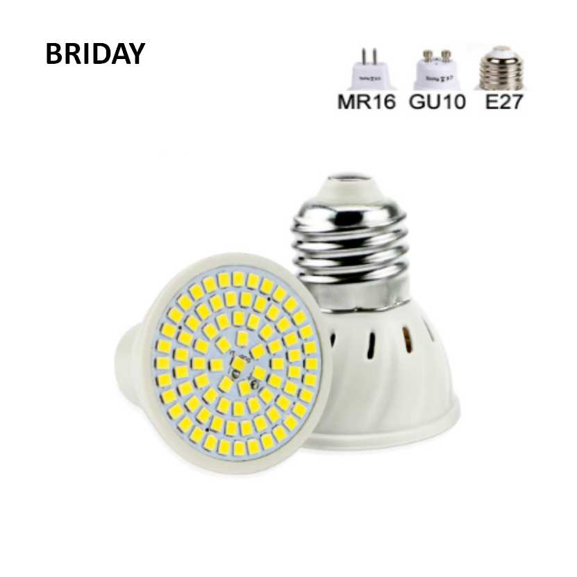 E27 LED Lamp MR16 GU10 LED Bulb 220V 240V LED Spotlight Bulb Lampada 48/60/80LEDs SMD 2835 For Indoor Home Spot Light