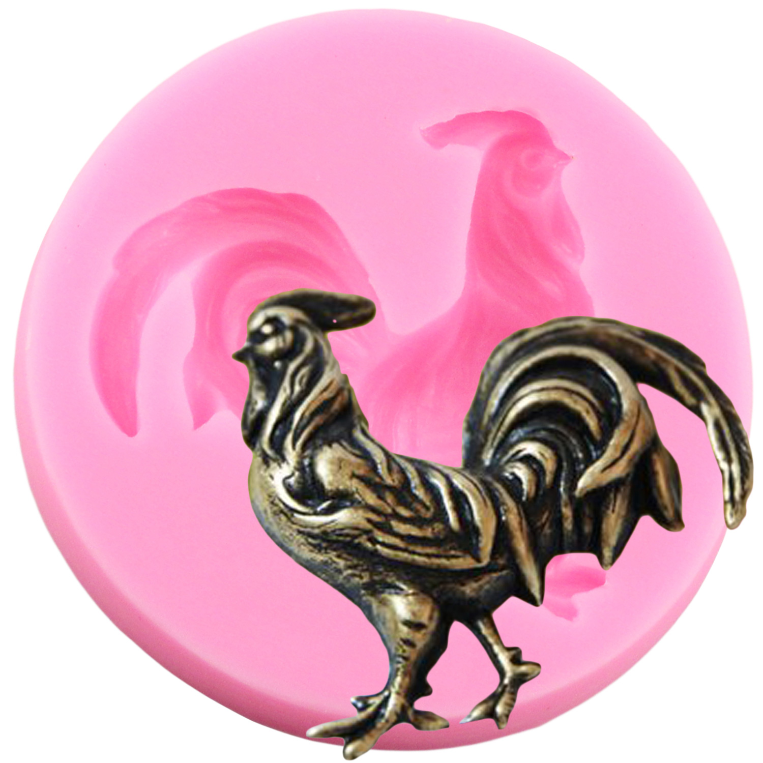 Rooster Cock Candy Silicone mold