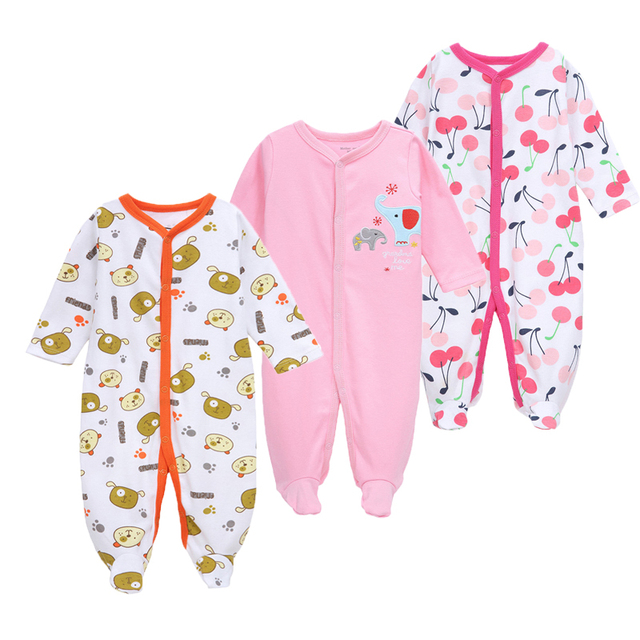 06b7fdd4444a 3Pcs Baby Rompers Spring Baby Girl Clothes Cotton Baby Boy Clothing ...
