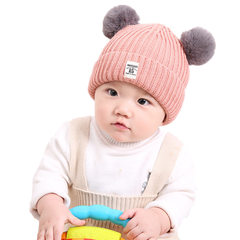 6e04453c0167 0 3 years old baby wool hat Cute autumn and winter models plus ...