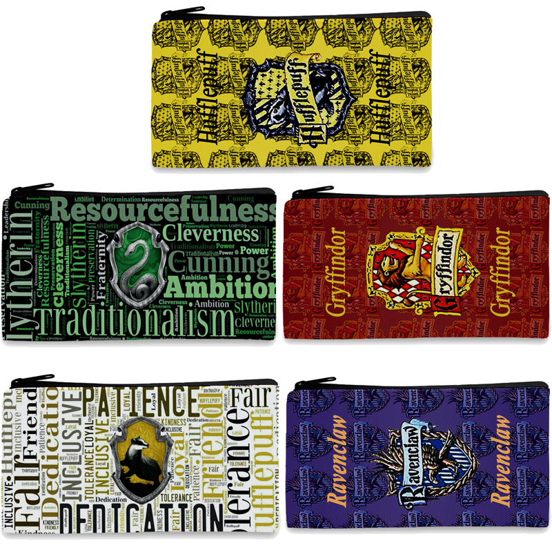 Potter Hogwarts Gryffindor Slytherin Death Hallows Pencil Stationery Make Up Bag Pen Case Storage Action Toy Figure