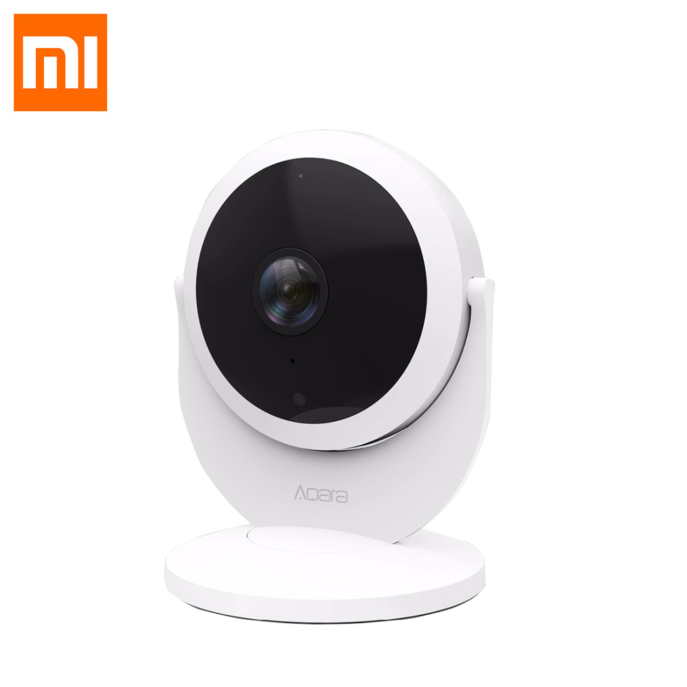 Xiaomi Mijia Aqara Smart Wifi Caméra IP Passerelle Version 1080 P HD Alarme de Liaison 180 Degrés FOV Mi Smart Home Voix Interphone