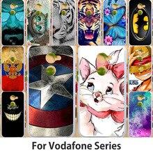 Anunob Case For Vodafone Smart N8 lite N9 E8 V8 Prime 7 VF600 Ultra 6 V995 VDF700 VFD510 Cover Animal Painting Bags