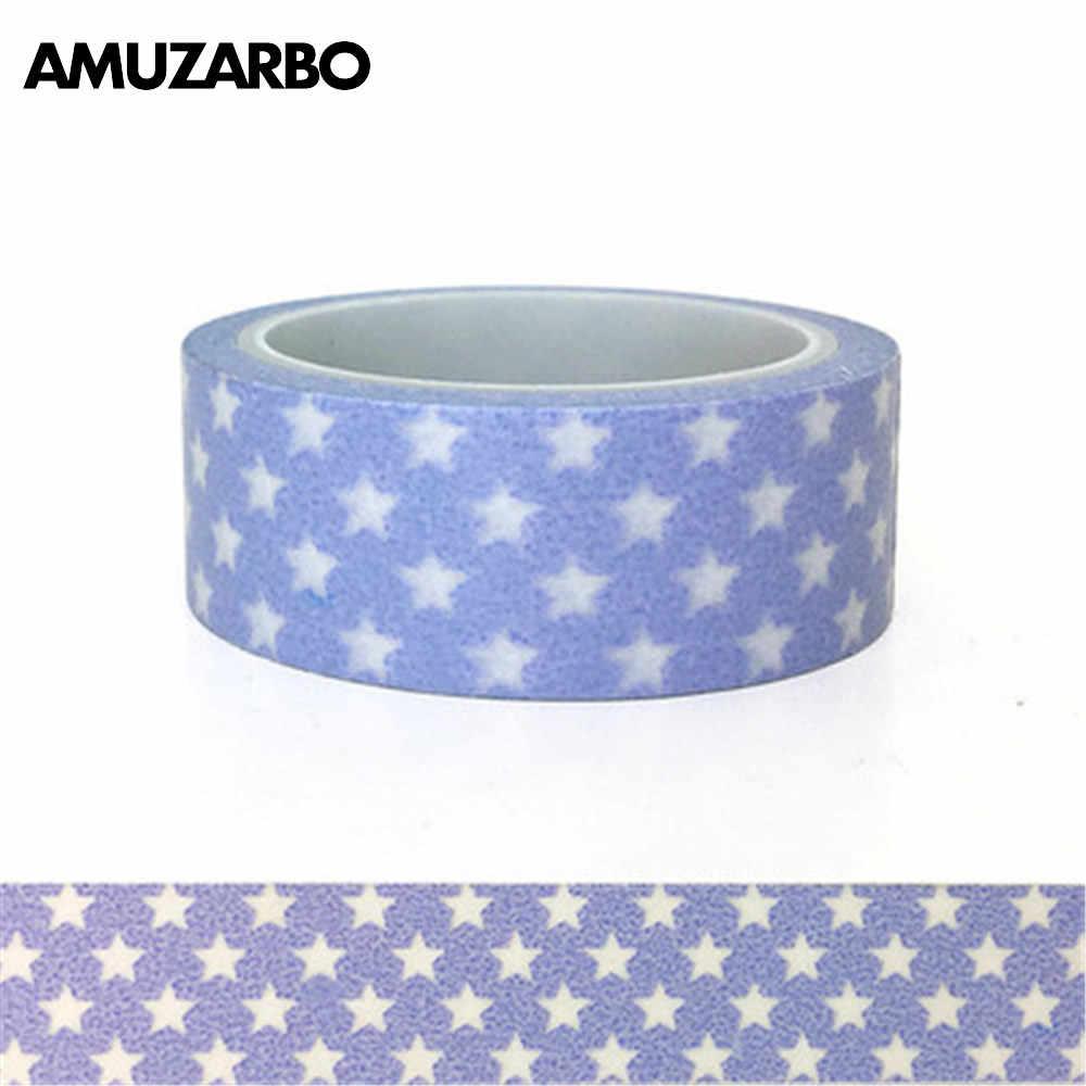 20mm * 8 m simple pequeña serie de bambú fresco enmascarar washi cinta álbum cuenta diario decoración pegatina Oficina papelería suministros