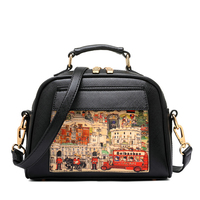 Beaumais Pu Leather Women Leather Handbag Famous Brand Women Messenger Bags Women Shoulder Bag Pouch Printing