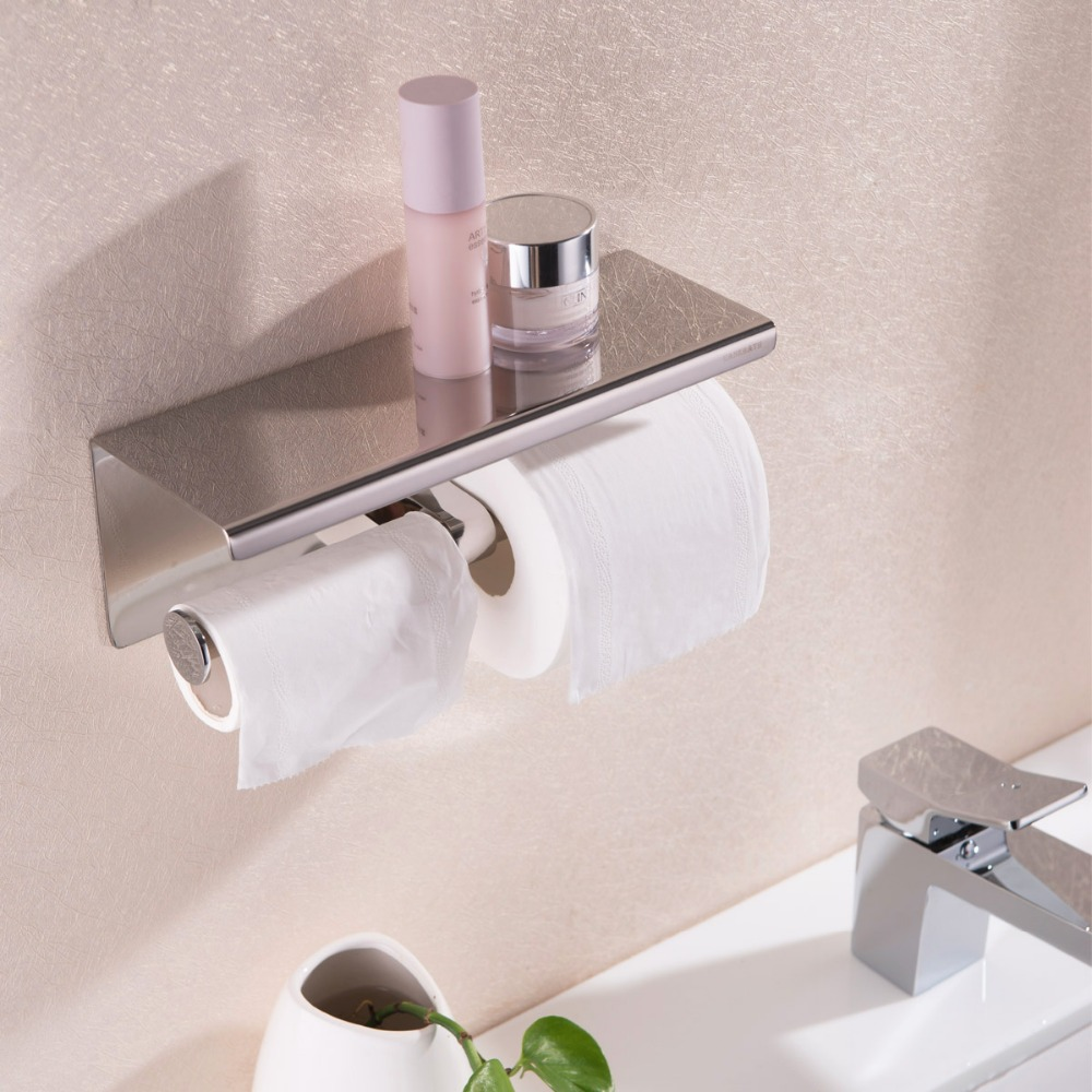 Best 304 stainless steel toilet roll paper holder r for Bathroom accessories toilet roll holder