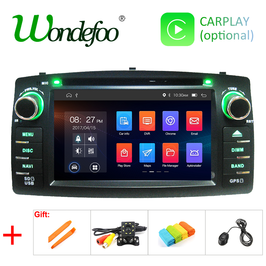 DSP Android 9 0 4G RAM 64G ROM 2 Din Car GPS For Toyota Corolla E120