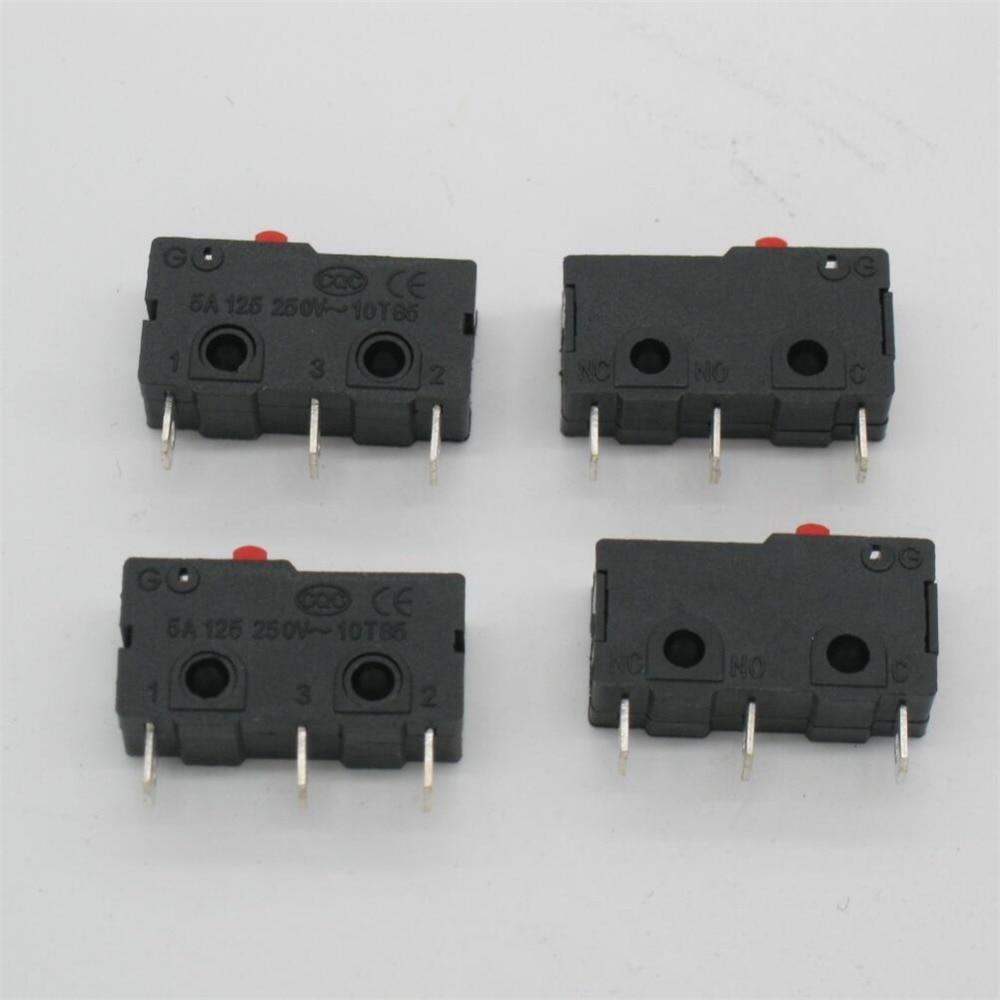 10 Pcs AC 125 250V 5A 3 Pins Red Cherry Arcade Push Button Actuator ...