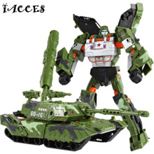 Cool Tank Military Toys Action Figures Armored Car Deformation Robot Plastic ABS Anime Classic Toys Boy