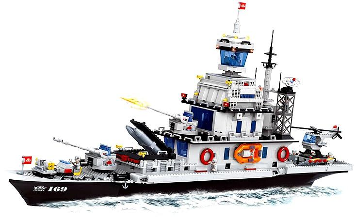 Строительный набор сделай сам Совместимость с LEGO City военный корабль 420 3D блоки модель образования и здание игрушки хобби для детей