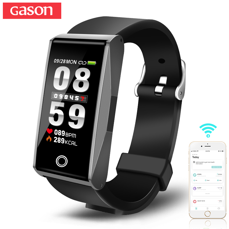 GASON B2 Smart wristband Cicret Watch Activity Tracker Watches blood Pressure Health Pulsometer Sport Smartband Fitness Bracelet gason черный