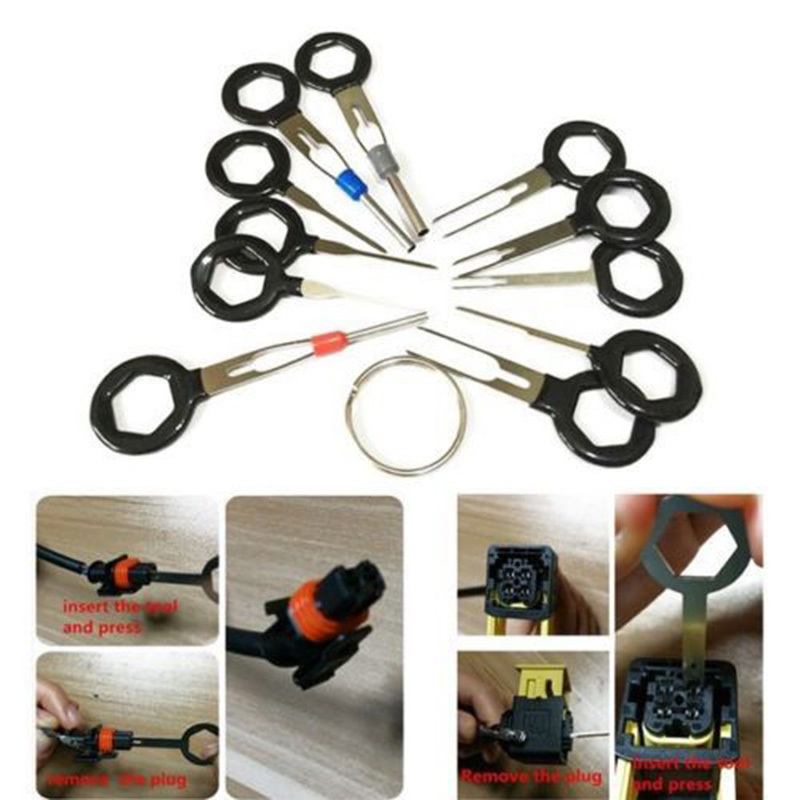 11pcs Terminal Removal Tools Auto Car Plug Circuit Board