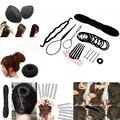 8 Unids Mujeres Headwear Barrettes Hairgrips Diademas Set Donut Moño Tire Del Perno de Pelo Clip Peine Niñas Fabricante Accesorio Para El Pelo