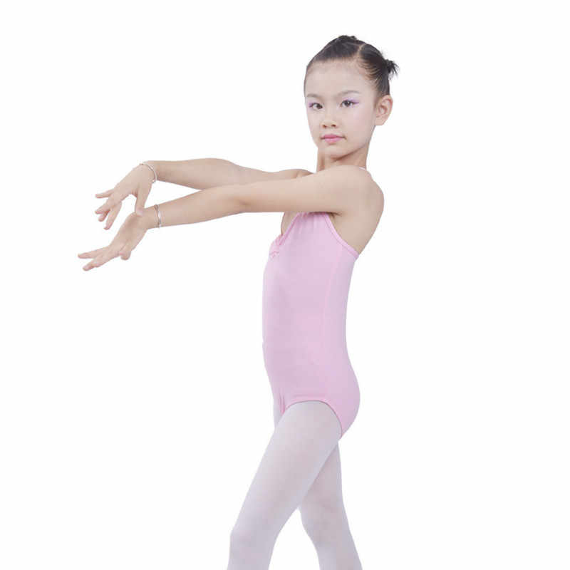 התעמלות בגד גוף בלט בנות balett ילדים כותנה תחרות שרוולים ריקוד תלבושות ילדי פעוט סרבל dancewear