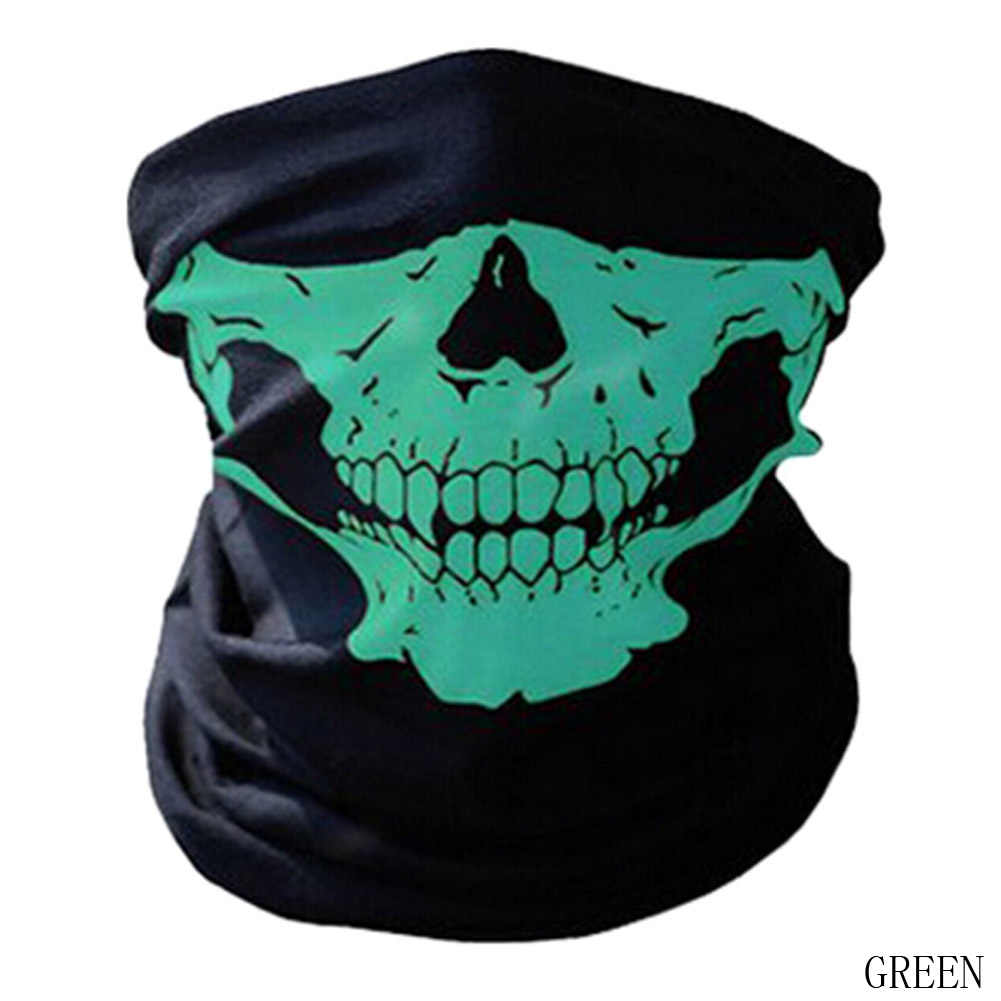 Multi-fungsional Keren Skull Bandana Helm Berkemah Neck Face Mask Paintball Ski Sport Headband Hiking Syal
