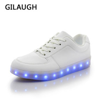 Hot 8 Colors LED Shoes Men Women Led Luminous Shoes USB Charging Light Unisex Casual