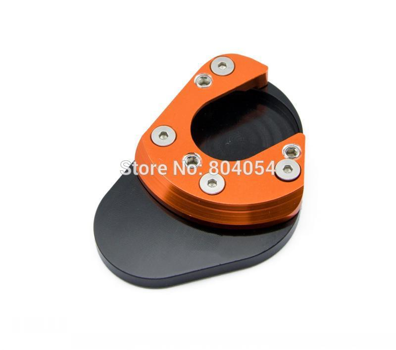 CNC Kickstand Sidestand Extension Plate Pad For KTM Duke 125 200 390 690 690 950 990 RC125 RC200 RC390 950 990 SMR SMT cnc brake clutch gear pedal lever for ktm duke 125 200 390 rc125 rc200 rc390 2014 2015 2016 gray silver orange aluminum alloy