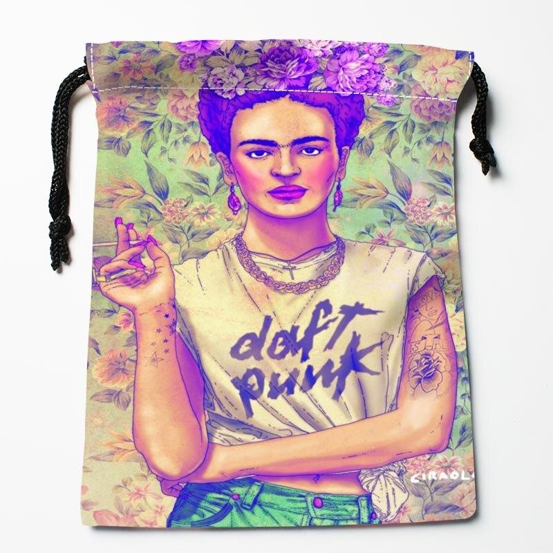 Best Frida Kahlo font b Drawstring b font font b Bags b font Custom Storage Printed