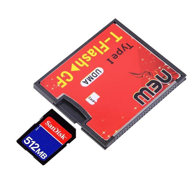 T-Flash para Adaptador de Cartão de Memória Compact Flash UDMA CF tipo1 até 64 GB Wholelsae Nova Marca