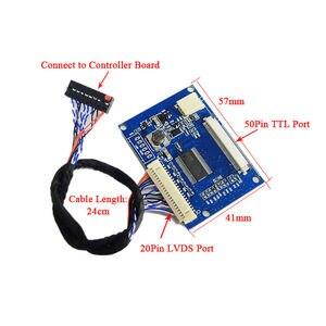 Image 5 - Низковольтного дифференциального сигнала поворота 50pin TTL порт стандартный 20pin 1 ch 8 LVDS вход 50pin TTL Выход Бесплатная доставка