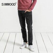 Simwood Джинсы для женщин Для мужчин осень 2017 г. Новые Модные узкие джинсы мужские рваные Высокое качество, Большие размеры брендовая одежда NC017040