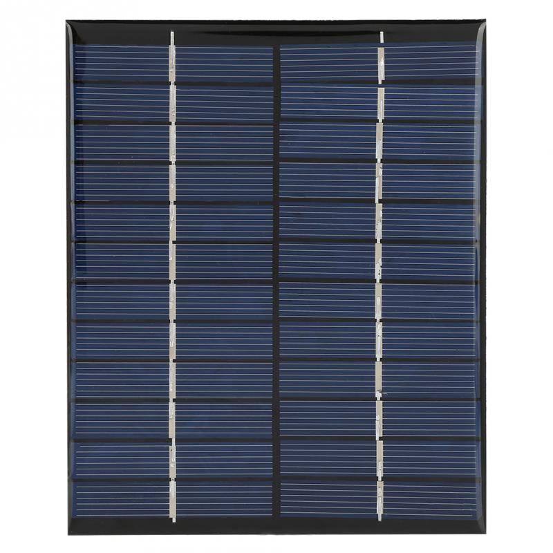 2W 12V Mini Solar Panel Portable Polycrystalline Silicon Solar Panel DIY Power Module Charger 136*110mm