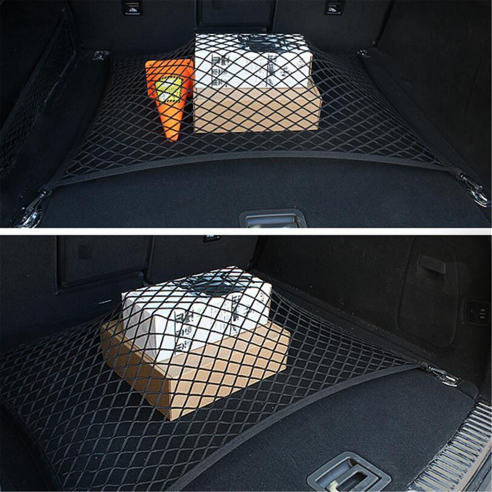 Car Trunk Cargo Mesh Net 4 Hook Car Luggage For Audi Q3 Q5 SQ5 Q7 A1 A3 A4 A4L A5 A6 A6L A7 A8 S5 S6 S7 TT TTS Any Cars universal car seat cover for audi q3 q2 q5 q7 a1 a2 a4 a6 a8 a4l a6l tt tts car accessories car sticker free shiping