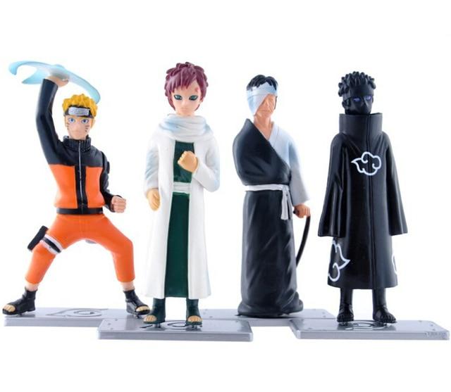 4Pcs Set Naruto Gaara Uzumaki Shimura Danzou Action Figure