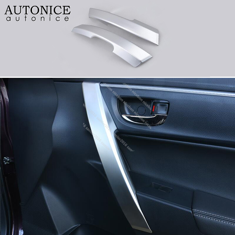 4pc black Stainless Interior Handle Bowl Cover fit For Toyota Corolla 2014-2018
